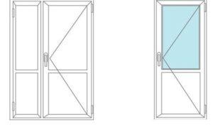 Стандартная комплектация пластиковой двери