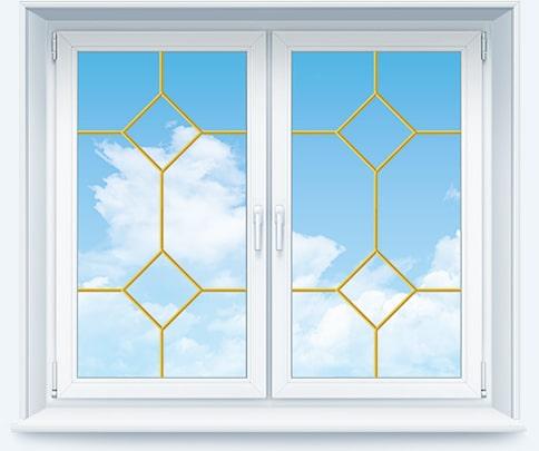 Декоративная раскладка на окно