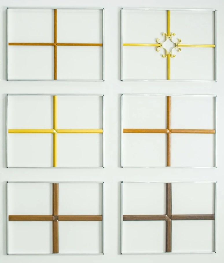 Цвета декоративной раскладки на окна