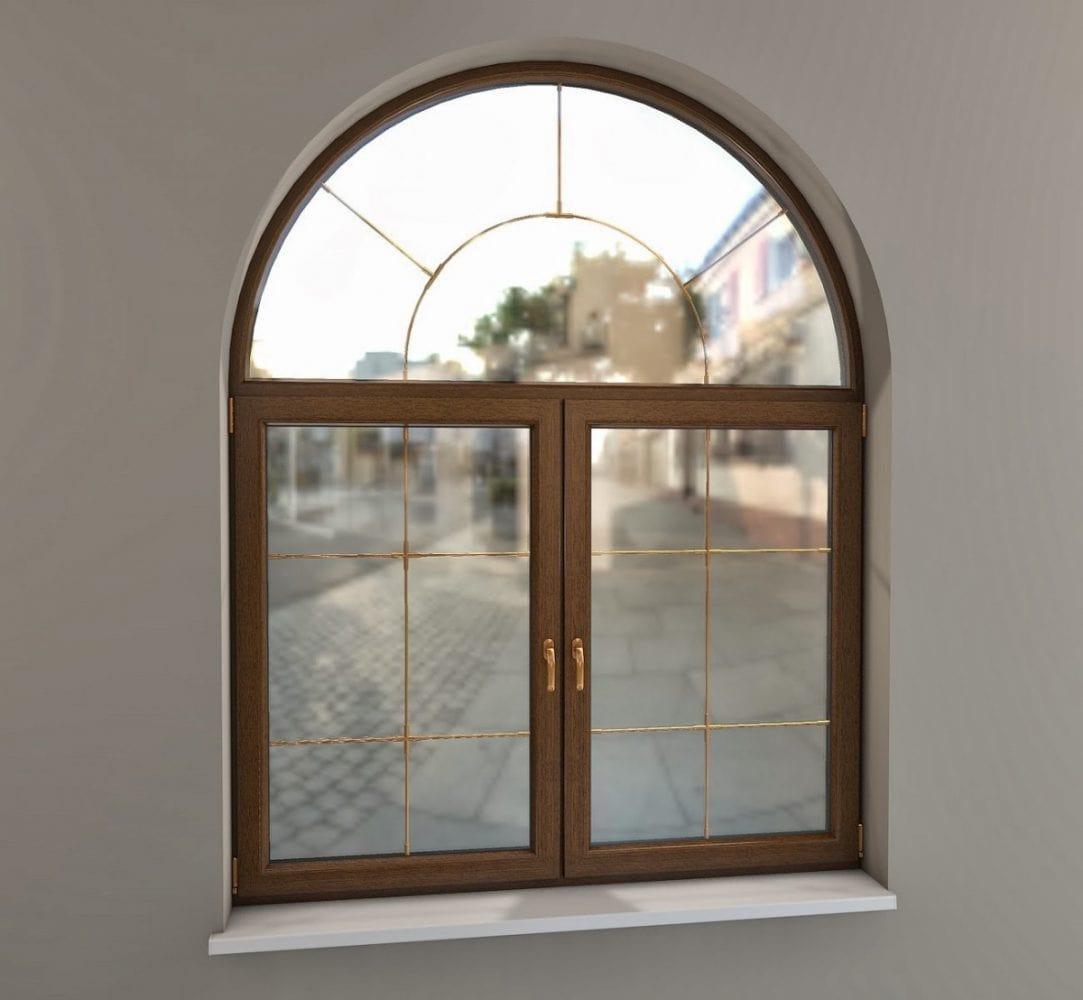 Арочные пвх окна